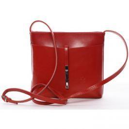 Italy  Dámská kožená crossbody kabelka červená -  Aneta  Červená