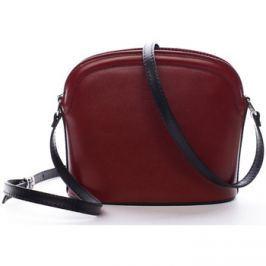 Italy  Dámská kožená crossbody kabelka červeno-černá -  Tracy  Červená