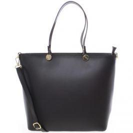 Delami  Dámská kožená kabelka černá -  Valentina  Černá