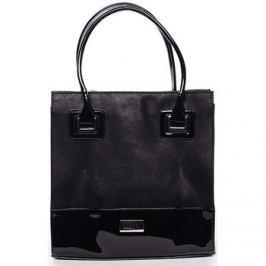 Delami  Dámská luxusní lakovaná kabelka černá  -  Claudine  Černá