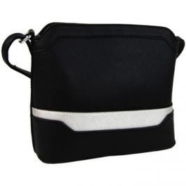 New Berry  Malá černo-stříbrná crossbody kabelka YH1633  Černá