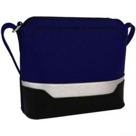 New Berry  Malá modro-černo-stříbrná crossbody kabelka YH1633  Modrá