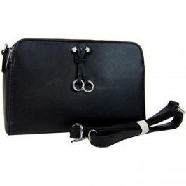 New Berry  Podélná černá praktická crossbody kabelka YH1632  Černá