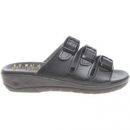 Rejnok Dovoz  Dámské pantofle 5-20104 černé  Černá