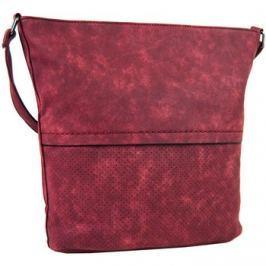 Tapple  Dámská broušená crossbody kabelka 16010 červená  Červená