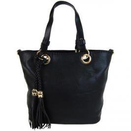 Maria Marni  Elegantní kabelka na rameno se zlatými doplňky 2181-BB černá  Černá
