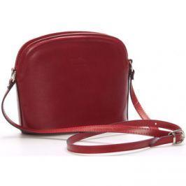 Italy  Dámská kožená crossbody kabelka červená -  Tracy  Červená