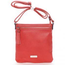 David Jones  Moderní dámská crossbody kabelka červená -  Azurine  Červená