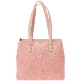 Italy  Exkluzivní dámská kožená kabelka růžová -  Logistilla  Růžová