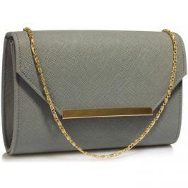 Ls Fashion  Luxusní šedé psaníčko  0293
