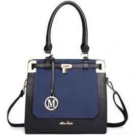 Lulu Bags (Anglie)  Moderní modro-černá kabelka s visacím zámkem Miss Lulu  Modrá