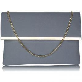 Ls Fashion  Luxusní šedé listové psaníčko  0279