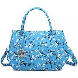 Lulu Bags (Anglie)  Nadčasová světle modrá kabelka s ptáčky Miss Lulu  Modrá