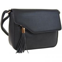 Sun-bags  Podélná crossbody kabelka s ozdobou F008 černá  Černá