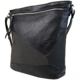 Sun-bags  Elegantní sešívaná crossbody kabelka AE-0914 černá  Černá