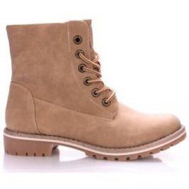 Canadians  Béžové boty farmářky s kožíškem  ruznobarevne