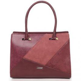 David Jones  Luxusní vínová dámská kabelka do ruky -  Manileas  Červená
