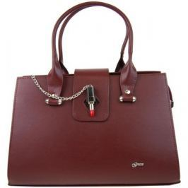 Grosso  Bordová elegantní kabelka s ozdobou rtěnky S710  ruznobarevne