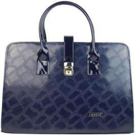 Grosso  Luxusní dámská aktovka v modrém hadím laku S563  Modrá