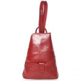 Italy  Dámský originální kožený červený batůžek -  Zenina  Červená