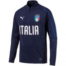Puma  FIGC Italia 1/4 Zip Training Top  Modrá