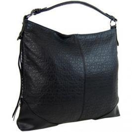 Maria Marni  Černá dámská kabelka na rameno v jemném kroko designu 2456-BB  Černá
