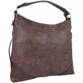 Maria Marni  Hnědofialová dámská kabelka na rameno v jemném kroko designu 245  Hnědá