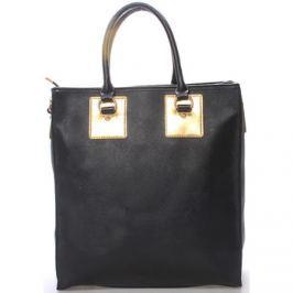 Ls Fashion  Dámská velká módní kabelka do ruky černá -  Giada  Černá