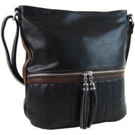 New Berry  Elegantní dámská crossbody kabelka NH6047 černá  Černá