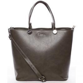 Delami  Luxusní olivová dámská kabelka -  Chantal  Zelená
