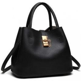 Lulu Bags (Anglie)  Černá moderní kabelka se zámečkem Miss Lulu  Černá