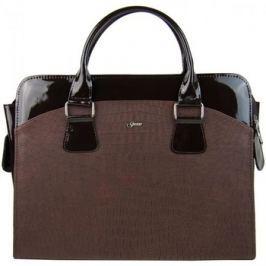Grosso  Dámská luxusní taška na notebook hnědý mat / lak kroko ST01 15.6  Hnědá
