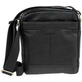 Lagen  LN 20654 černá kožená taška přes rameno  Černá