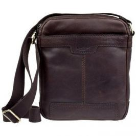 Lagen  LN 20654 tmavě hnědá kožená taška přes rameno  Hnědá