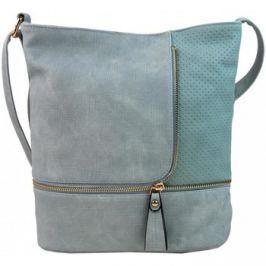 Sara Bag  Módní crossbody kabelka se zlatými doplňky F1379 azurová  Modrá