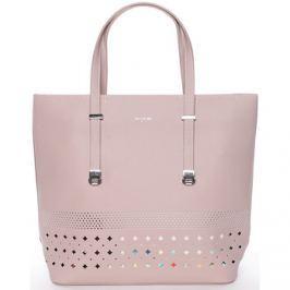 David Jones  Elegantní perforovaná růžová kabelka s organizérem -  Cambria  Růžová