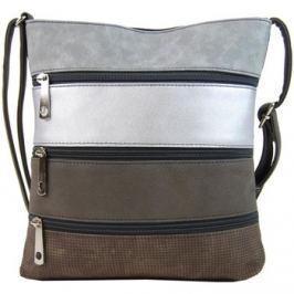 Tapple  Menší tmavě šedá pruhovaná crossbody kabelka H17286   Tašky přes rameno