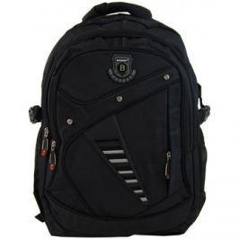 New Berry  Větší batoh NEWBERRY do školy i na sportování L1911 černý  ruznobarevne Batohy