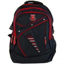 New Berry  Větší batoh NEWBERRY do školy i na sportování L1911 černo-červen  ruznobarevne