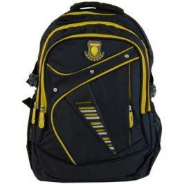 New Berry  Větší batoh NEWBERRY do školy i na sportování L1911 černo-žlutý  ruznobarevne Batohy
