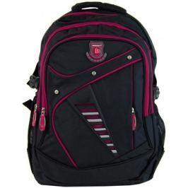 New Berry  Větší batoh NEWBERRY do školy i na sportování L1911 černo-růžový  ruznobarevne Batohy