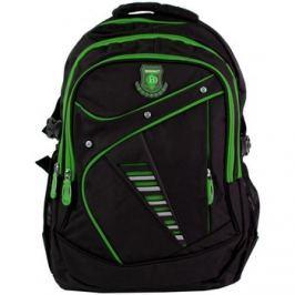 New Berry  Větší batoh NEWBERRY do školy i na sportování L1911 černo-zelený  ruznobarevne Batohy