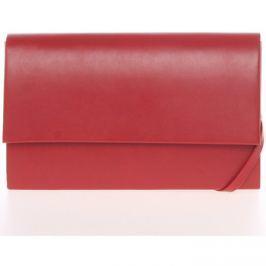 Delami  Stylové dámské psaníčko červené matné -  Boston  Červená Večerní kabelky
