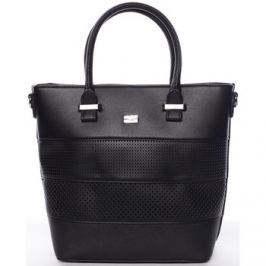 David Jones  Elegantní dámská černá perforovaná kabelka -  Ledda  Černá