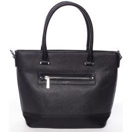 David Jones  Módní dámská kabelka do ruky černá saffiano -  Klarisa  Černá