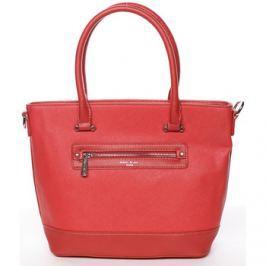 David Jones  Módní dámská kabelka do ruky červená saffiano -  Klarisa  Červená