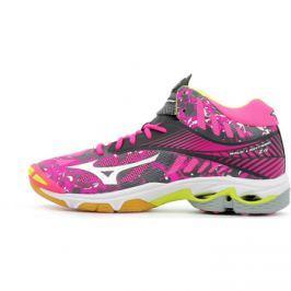 Mizuno  Wave Lightning Z4 Mid Women  Růžová