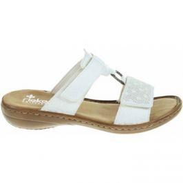 Rieker  dámské pantofle 60885-80 weiss  Bílá