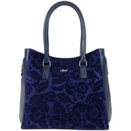 Grosso  Modrá elegantní kabelka s potiskem S727  Modrá