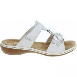 Rieker  dámské pantofle 65998-80 weiss  Bílá